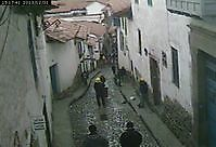 Cuesta San Blas leading to the hotel Casa San Blas Cusco Peru - Webcams Abroad live images