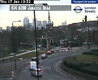 Traffic Cam   Rotherhithe Tunnel  London  UK London United Kingdom - Webcams Abroad live images
