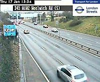 Traffic Cam    Woolwich Flyover Southside  London  UK London United Kingdom - Webcams Abroad live images
