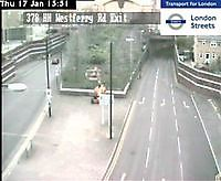 Traffic Cam  Limehouse Tunnel by Westferry Road   London  UK London United Kingdom - Webcams Abroad live images