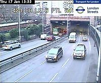 Traffic Limehouse Tunnel  London  UK London United Kingdom - Webcams Abroad live images