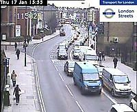 Traffic Cam  Fulham Palace Rd Coroners Court   London  UK London United Kingdom - Webcams Abroad live images