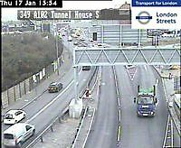 Traffic Cam   Blackwall Tunnel  House  London  UK London United Kingdom - Webcams Abroad live images