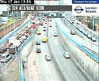 A13 East India Dock Road  London  UK London United Kingdom - Webcams Abroad live images