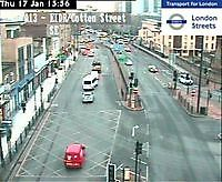 Traffic Cam  A13 East India Dock Road  London  UK London United Kingdom - Webcams Abroad live images
