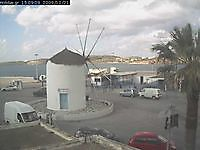 Windmill in Parikia port of Paros Greece Paros Greece - Webcams Abroad live images