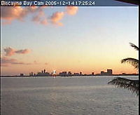Biscayne Bay Miami FL cam1 Biscayne Bay United States of America - Webcams Abroad live images