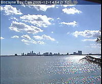 Biscayne Bay Miami FL cam2 Biscayne Bay United States of America - Webcams Abroad live images