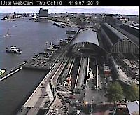 Webcam backside Central Station Amsterdam Netherlands - Webcams Abroad live images