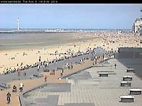 Webcam Oostende at the beach Oostende Belgium - Webcams Abroad live images