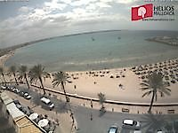 Sea view of Can Pastilla Palma de Mallorca Spain - Webcams Abroad live images