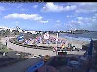 Lanzarote beach webcam, Canary Islands Playa de las Cucharas Spain - Webcams Abroad live images