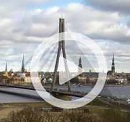 The Suspension Bridge in Riga Riga Letland - Webcams Abroad live beelden